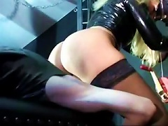 Nasty Mistress In Leather And Latex Administers Brutal As Punishment