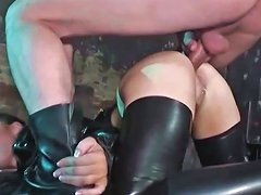 Latex Slut Pounded In The Ass And Taking A Big Load
