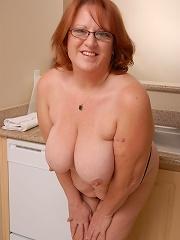 Brandy is a very naughty chubby housewife
