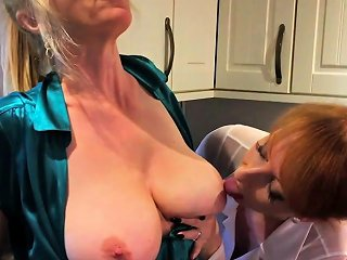 Mature Redhead Fucks Her Girlfriend With A Rolling Pin Drtuber
