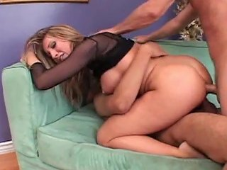 Thick Busty Slut Gets Dicked Down In Red High Heels And Panties