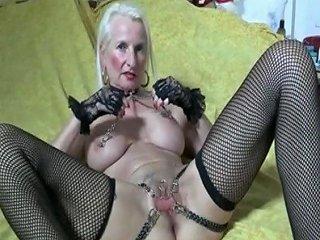 My Sexy Piercings Heavy Pierced Granny Stretching Pussy
