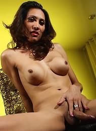 Sweet brunette transsexual s...