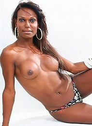 This black shemale model has...