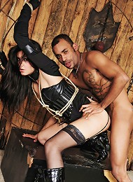 Submissive shemale bound and dominated