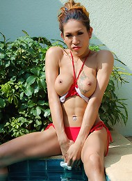 Ladyboy fucked hard in the great outdoors