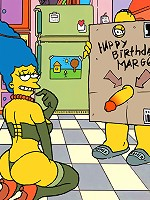 Homer gives Marge a special birthday gift